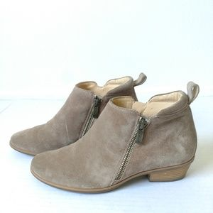 Paul Green Jillian tan zipper ankle boots boho